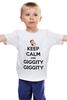 """Детская футболка """"Keep Calm and Giggity"""" - keep calm, family guy, гриффины, giggity, гленн куагмаер"""