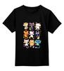 """Детская футболка классическая унисекс """"Коты и Кошки (Cats)"""" - pokemon, манящий кот, кот счастья, денежный кот, кот удачи"""