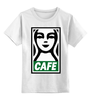 """Детская футболка классическая унисекс """"Starbucks (Obey)"""" - кофе, obey, starbucks, старбакс, cafe"""