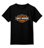 "Детская футболка классическая унисекс ""Harley Davidson"" - harley davidson, мото, харлей, чоппер, kinoart"