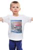 """Детская футболка """"Морозная зима."""" - новый год, зима, снег, пейзаж, живопись, мороз"""