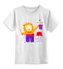 """Детская футболка классическая унисекс """"Лев-фокусник"""" - бабочки, лев, чудеса, фокус"""
