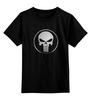"""Детская футболка классическая унисекс """"Каратель"""" - череп, антигерой, каратель, the punisher, kinoart"""