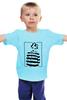 "Детская футболка ""I'm not a number. I'm a person "" - политика, протест, charlie chaplin, чарли чаплин, узник"