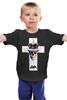 """Детская футболка классическая унисекс """"Long live the king"""" - skull, череп, king, корона, крест"""