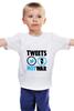 """Детская футболка классическая унисекс """"Tweets Not War"""" - fun, social"""