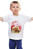 """Детская футболка классическая унисекс """"люби."""""""