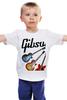 "Детская футболка ""Gibson"" - гитара, рок, gibson, гибсон"