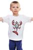"""Детская футболка классическая унисекс """"Totem cancer"""" - шаман, рак, индейцы, cancer, haida, shaman"""