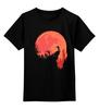 """Детская футболка классическая унисекс """"Красная Луна"""" - zombie, зомби, кровь, луна, вторжение"""