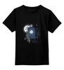 """Детская футболка классическая унисекс """"Сова и Тардис"""" - сова, doctor who, owl, доктор кто, тардис"""