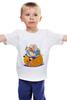 """Детская футболка классическая унисекс """"Fat Finn & Jake"""" - adventure time, время приключений, фин, джейк, обжорство"""