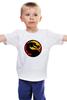 """Детская футболка классическая унисекс """"Мортал Комбат (Mortal Kombat)"""" - mortal kombat, мк, cмертельная битва"""