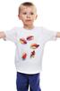 """Детская футболка классическая унисекс """"лепестки"""" - арт, рисунок, petals"""