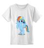 """Детская футболка классическая унисекс """"Rainbow Dash"""" - pony, mlp, rainbow"""