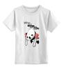 """Детская футболка классическая унисекс """"Cute? """" - bear, стиль, медведь, панда, cute, мило, panda, панды, милота"""