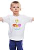 """Детская футболка классическая унисекс """"Веселое семейство"""" - футбол, семья, птицы, подарок, страусы"""
