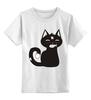 """Детская футболка классическая унисекс """"Котенок-охотник"""" - кот, арт, котенок, рисунок, охота"""