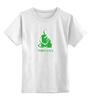 """Детская футболка классическая унисекс """"Nirvana-green"""" - nirvana, монах, буддизм, lingam, yoga"""