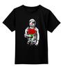"""Детская футболка классическая унисекс """"Букет красных роз"""" - цветы, розы, космонавт"""