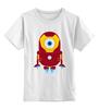 """Детская футболка классическая унисекс """"Железный Миньон"""" - гадкий я, миньоны, iron man, minion"""