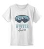 """Детская футболка классическая унисекс """"Зимний Спорт (Winter Sport)"""" - очки, горы, лыжи, сноуборд, snowboard"""