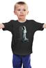 """Детская футболка классическая унисекс """"Созвездие"""" - черно-белое, космос, созвездие, witchouse"""