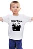 """Детская футболка классическая унисекс """"nirvana"""" - grunge, гранж, nirvana, kurt cobain, курт кобейн, нирвана, альтернативный рок"""