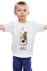 """Детская футболка классическая унисекс """"T-REX"""" - тирекс, терьер, jack russel, джек рассел терьер"""