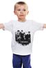 """Детская футболка классическая унисекс """"БРИГАДА"""" - белый, патриот, россия, пчела, бригада"""