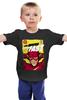 """Детская футболка классическая унисекс """"Супергерой Флэш"""" - flash, комиксы, супергерои, молния, флэш"""