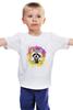 """Детская футболка классическая унисекс """"Радужный енот"""" - арт, радуга, rainbow, иллюстрация, енот, racoon"""