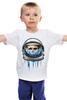 """Детская футболка классическая унисекс """"Dead Astronaut"""" - skull, череп, космос, astronaut, dead, cosmos, шлем, космонавт"""