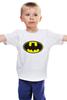 """Детская футболка классическая унисекс """"Бэтман"""" - batman, супергерой, бэтман"""
