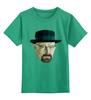 """Детская футболка классическая унисекс """"Уолтер Уайт"""" - во все тяжкие, breaking bad, walter white, уолтер, полигоны"""