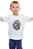 """Детская футболка классическая унисекс """"Skull_crown style"""" - авторские майки"""