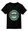 """Детская футболка классическая унисекс """"Heineken"""" - пиво, beer, heineken, dutch"""