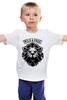"Детская футболка классическая унисекс ""WILD & FREE"" - кредо, wild, лев, lion, девиз"
