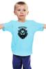 """Детская футболка классическая унисекс """"WILD&FREE"""" - кредо, лев, lion, девиз, текст"""