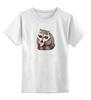 """Детская футболка классическая унисекс """"крошка енот"""" - арбуз, енот, енотик"""