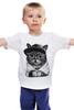 """Детская футболка классическая унисекс """"Крутой Кот"""" - cat, кошки, swag"""
