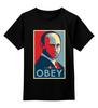 """Детская футболка классическая унисекс """"Путин (Obey)"""" - звезда, россия, президент, putin, повинуйся"""