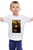 "Детская футболка ""Мона Лиза (Mona Lisa)"" - мона лиза, джоконда, mona lisa, полигоны, polygons"