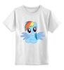 """Детская футболка классическая унисекс """"RainbowDash T-Shirt"""" - круто, rainbow dash, my little pony, пони, rainbow, стильно, рейнбоу дэш, молодёжно"""