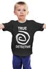 """Детская футболка классическая унисекс """"true detective"""" - true detective, настоящий детектив"""