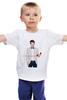 """Детская футболка классическая унисекс """"Elijah Wood with Red Phone"""" - elijah wood, элайджа вуд"""