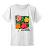 """Детская футболка классическая унисекс """"На лугу"""" - цветы, энди уорхол, поп-арт, warhol"""