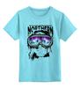 """Детская футболка классическая унисекс """"Сноубордист"""" - northern lights"""