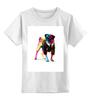 """Детская футболка классическая унисекс """"Мопс в черном"""" - животные, pug, собаки, мопс"""