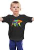"""Детская футболка """"Геометрический Медведь"""" - арт, bear, медведь, дизайн, фигуры"""